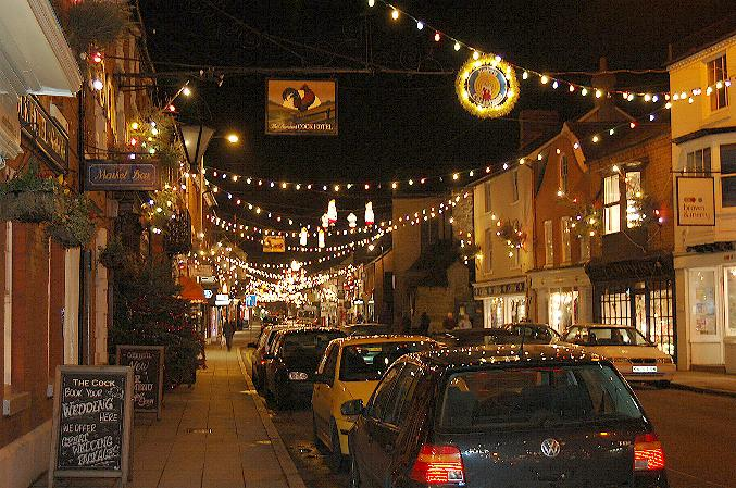 Christmas lights at Stony Stratford
